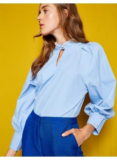 Gömlek Kol Detaylı Bluz-Koton